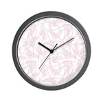Boomerang Pink Wall Clock