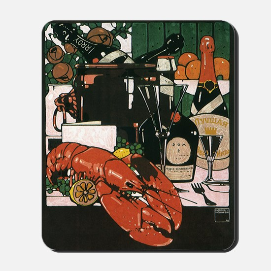 Vintage Fancy Foods Mousepad