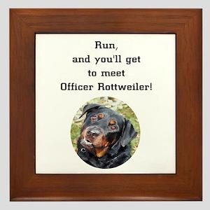 K-9 Officer Rottweiler Framed Tile