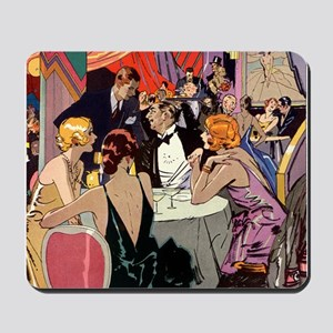 Vintage Cocktail Party Mousepad