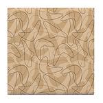Boomerang Bold Biege Tile Coaster