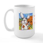 Bunny Rabbits Jump Large Mug