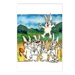 Bunny Rabbits Jump Postcards (Package of 8)
