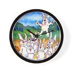 Bunny Rabbits Jump Wall Clock