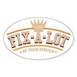 Sir Fix-A-Lot Oval Sticker (10 pk)