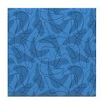 Boomerang Bold Blues Tile Coaster