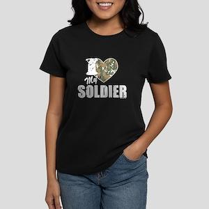 I Heart My Soldier Women's Dark T-Shirt