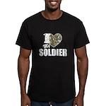 I Heart My Soldier Men's Fitted T-Shirt (dark)