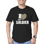 I Heart My Soldier Men's Fitted T-Shirt (dark)