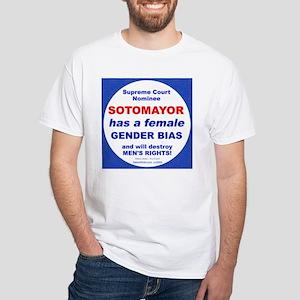 Sotomayor's Gender Bias White T-Shirt