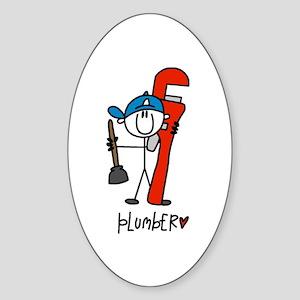 Plumber Oval Sticker
