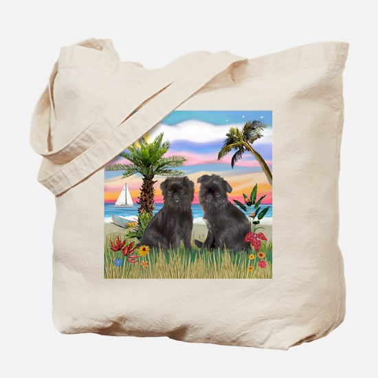 Palms - Brussels Griffon Pups Tote Bag