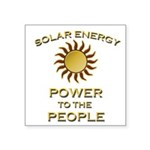 Solar Energy - Power to the People Sticker