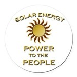 Solar Energy - Power To The Round Car Magnet