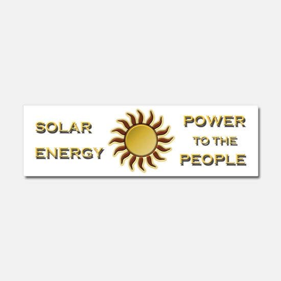 Solar Energy - Power To The Car Magnet 10 X 3