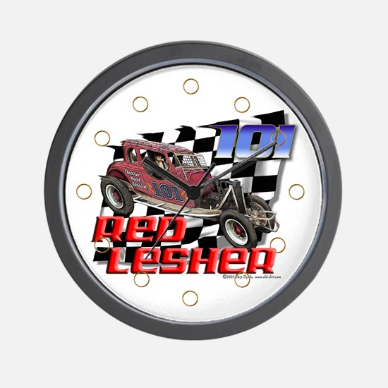"""Old Dirt!"" 101 Red Lesher! Wall Clock"