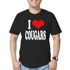 I Love Cougars Men's Fitted T-Shirt (dark)