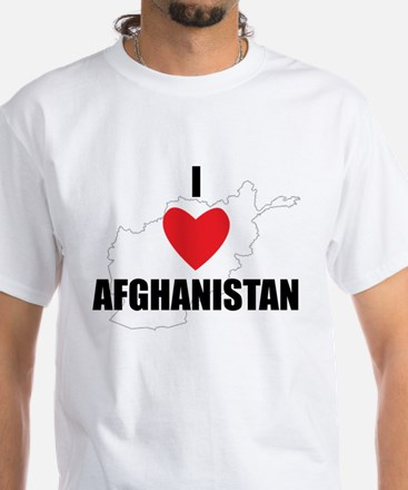 I Love Afghanistan White T-Shirt