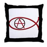 Anarchy Ichthus Throw Pillow