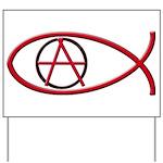 Anarchy Ichthus Yard Sign