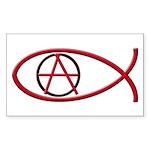 Anarchy Ichthus 10 Rectangular Stickers
