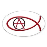 Anarchy Ichthus 50 Oval Stickers