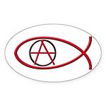 Anarchy Ichthus Oval Sticker