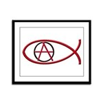 Anarchy Ichthus Framed Panel Print