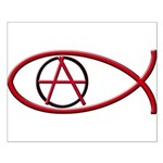 Anarchy Ichthus Small Poster