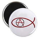 Anarchy Ichthus 100 Round Magnets
