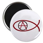 Anarchy Ichthus Magnet