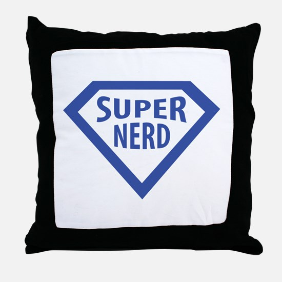 super nerd icon Throw Pillow