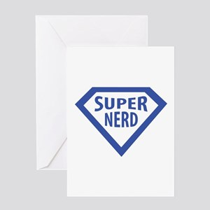 Super freak greeting cards cafepress super nerd icon greeting card m4hsunfo