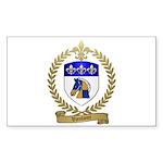 VAUTOUR Family Crest Rectangle Sticker 10 pk)