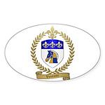 VAUTOUR Family Crest Oval Sticker