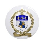 VAUTOUR Family Crest Ornament (Round)