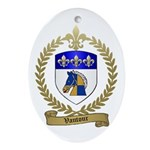 VAUTOUR Family Crest Oval Ornament