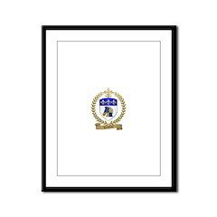 VAUTOUR Family Crest Framed Panel Print