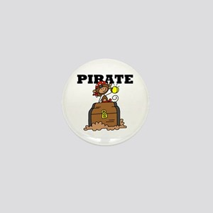 Pirate with Gold Mini Button