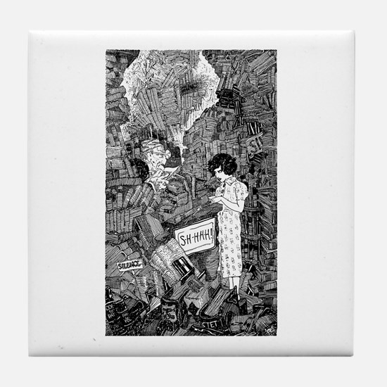 Here Comes Somebody - Library Tile Coaster