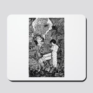Here Comes Somebody - Library Mousepad