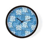 Swanky Mo Teal Wall Clock