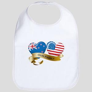 New Zealand/USA Flag_Our Family Bib