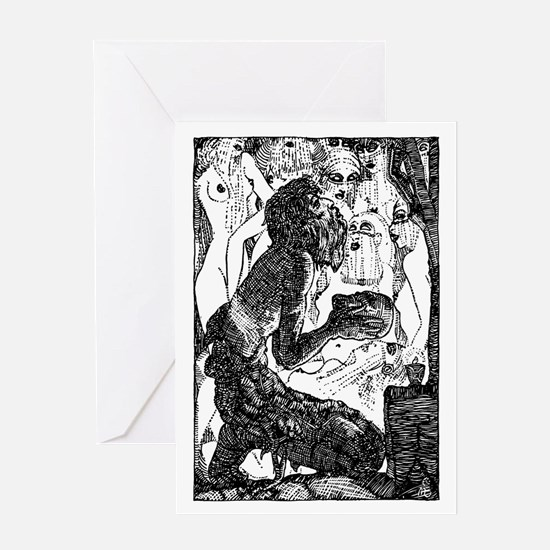 Temptation of Saint Anthony Greeting Card