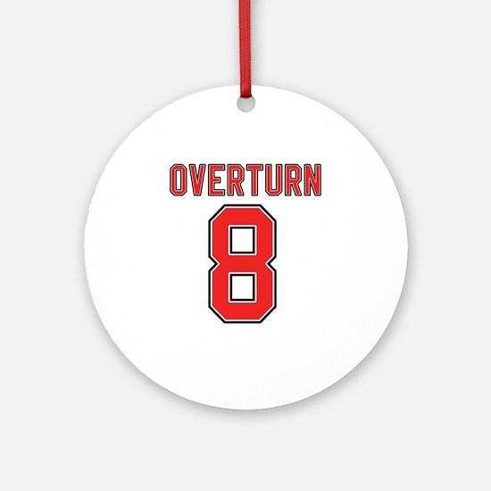 Overturn 8 Ornament (Round)