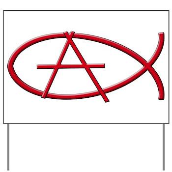Anarchy Ichthys Yard Sign Christian Anarchy Ichthys Symbol