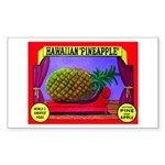 Produce Sideshow: Pineapple Rectangle Sticker