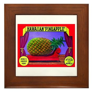 Produce Sideshow: Pineapple Framed Tile