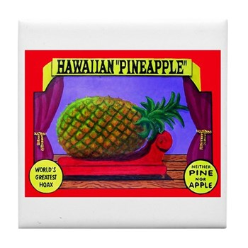 Produce Sideshow: Pineapple Tile Coaster