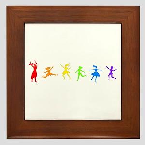 Rainbow Dancers Framed Tile